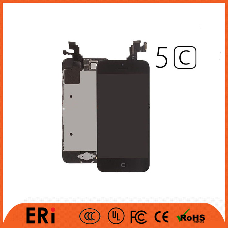 Mobile phone accessory grade A quality LCD screen touch for iphone 5c with low price