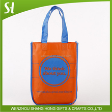 high quality pp non woven shopping bag with round corner