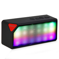 Portable Mini LED Lights Wireless Stereo Bluetooth Speaker X3S Box TF FM Radio Built in Mic MP3 Virtual Surround For Smartphone