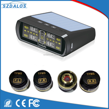 TPMS LCD Display sun power Car Wireless Tire Tyre Pressure Monitoring System 4 External Sensors