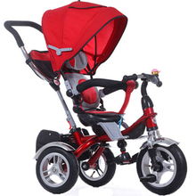 CE approved best quality air wheel children 3 in 1 3 wheel smart trike baby stroller bike