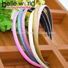1cm Glitter Headband Sparkle Plastic Slim Hair Bands with Teeth Glitter hair bands