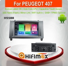 Hifimax Andriod 6.0 double din car gps dvd for peugeot 407 multimedia peugeot 407 android car radio Octa Core 32G HD800*480