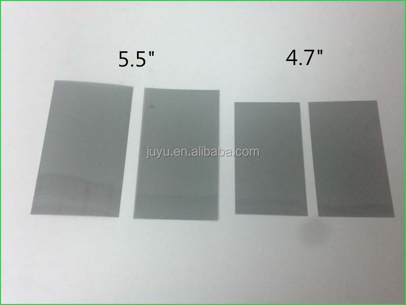 Semi-transparent lcd panel polarizer film for iphone 6 6s plus electronic lcd polarizer film sheet