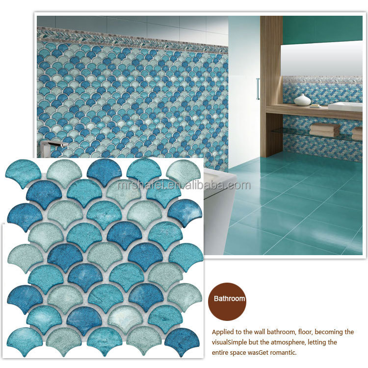 Recycle Glass Mosaic tile Wall Decoration for bathroom ,hotel.swimming pool,spa