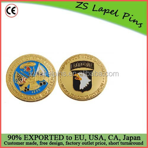 Personalized design and logo Double sided challenge coin