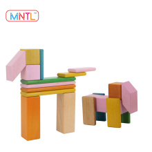 2017 Hot New Products MNTL 8 Pieces Wood Toy Magnetic Wooden Blocks Puzzle Educational Wood Toys