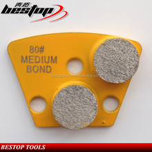 Two Diamond Grinding Segments Metal Bond Concrete Grinding Finishing Tools