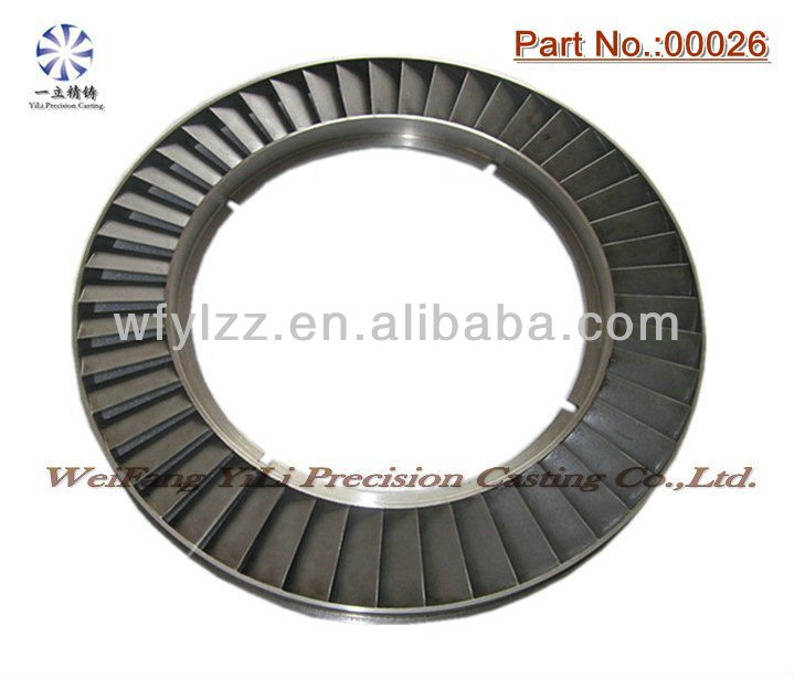 NIckel base alloy castings engine part nozzle ring