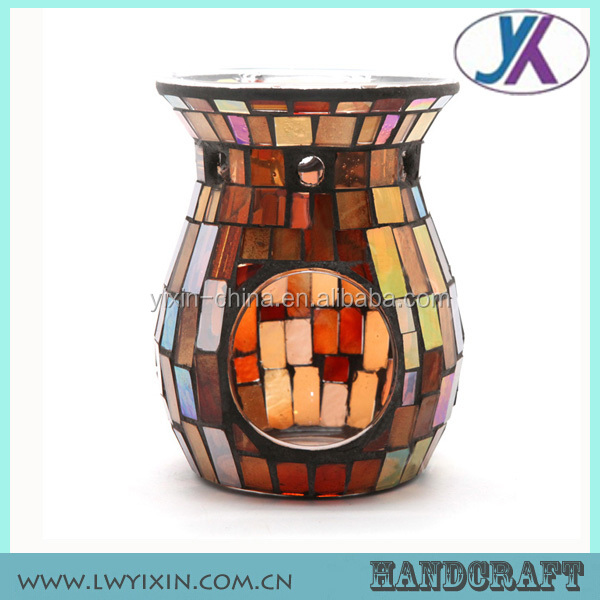 9.5*14.5cm Home decoration Wholesale Fragrance oil Burner /Mosaic fragrance Oil lamps /Mosaic Incense Oil Burner