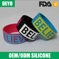 New design price sport transparent silicone bracelet