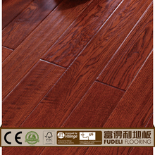 Oak cork wood three layer engineered flooring
