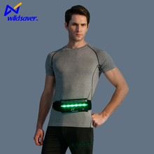 Travel sport running cycling waist bag with led /waist pouch