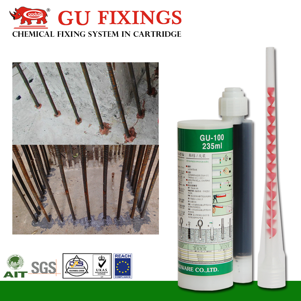 polyester resin mixer structural concrete glue for stone crack