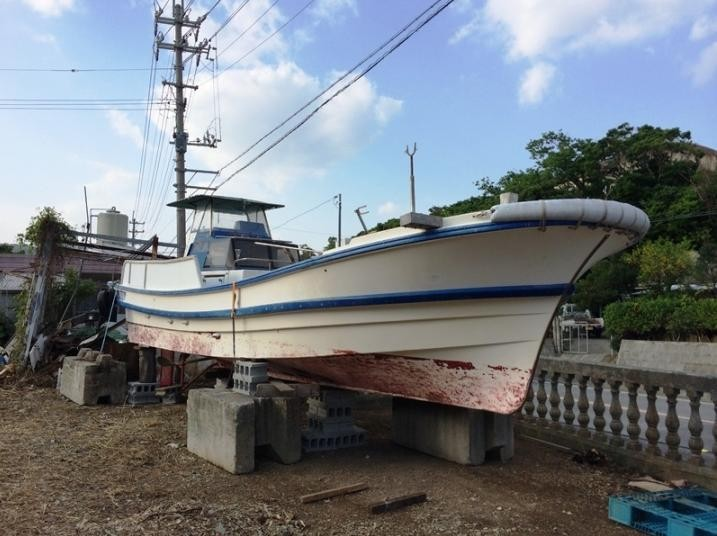 8.62m Japan used fiberglass fishing boat