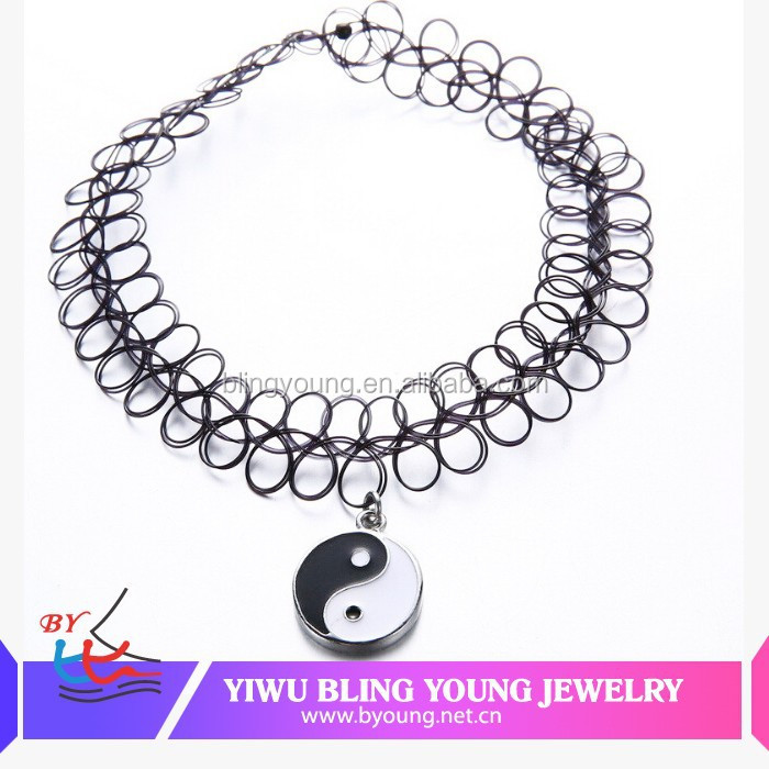 Hot new products China manufactory clear plastic tattoo choker,tattoo necklace