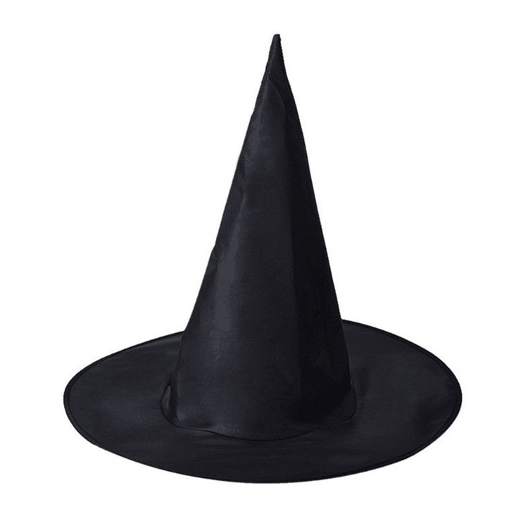 Black Oxford Spire Halloween Witch Cos Harry Potter Magic Broad Brim Hat