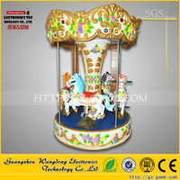 Little Horse Carousel amusement ride coin operated kids fairground mini carousel ride outdoor carousel for sale