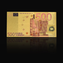 Euro memorial Colorful 500 Euro Gold Foil Paper Money Banknote