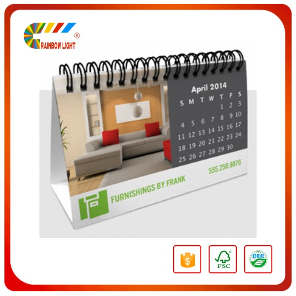 Wholesale paper cardboard offset printing daily sliding date calendar
