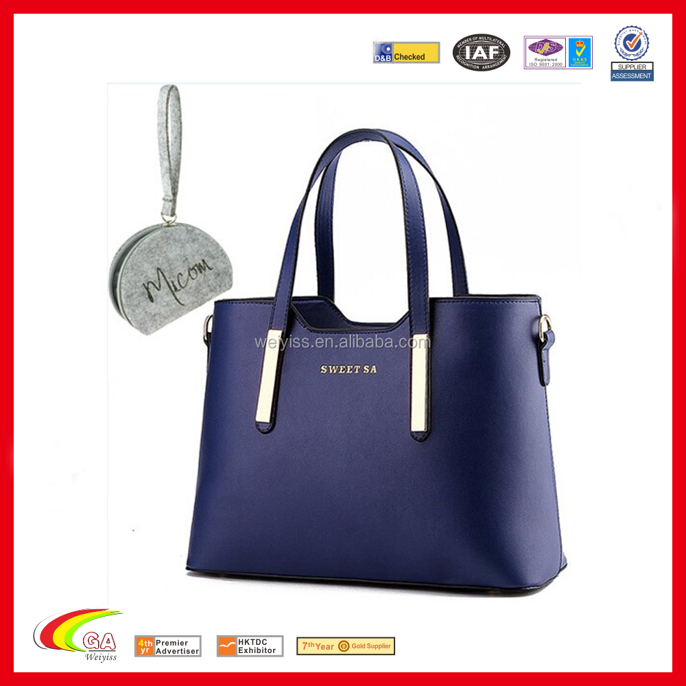 2016 the USA best-seller pu leather handbag, Lady handbag leather, Leather women hand bang china wholesales
