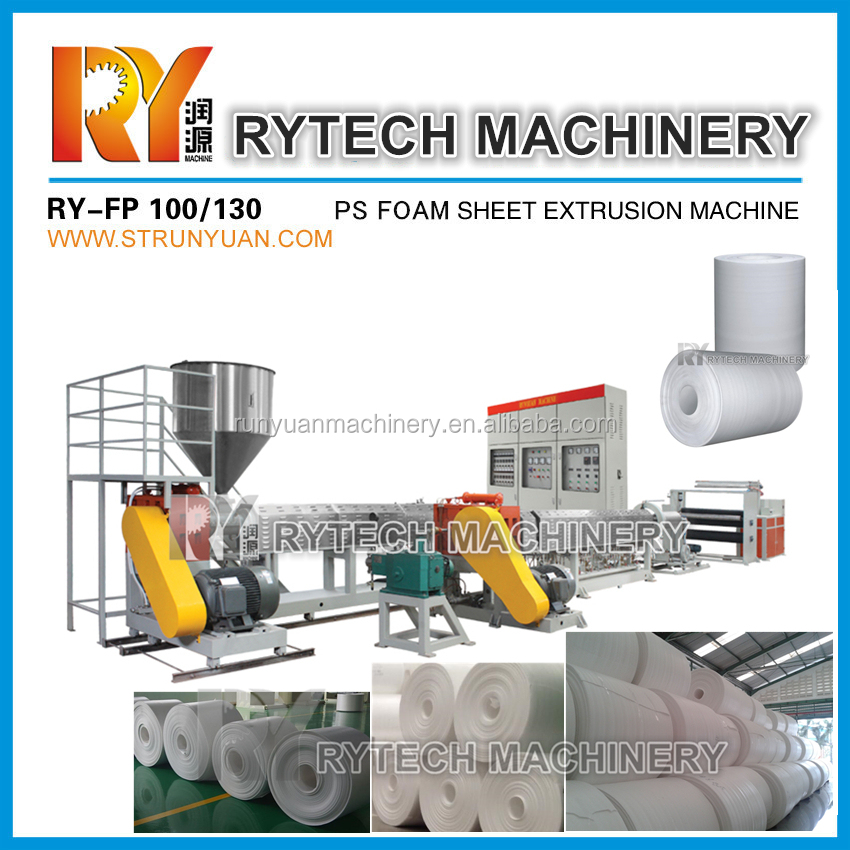 RY-FP 100/130 Plastic PS Foam Sheet Extruder Machine