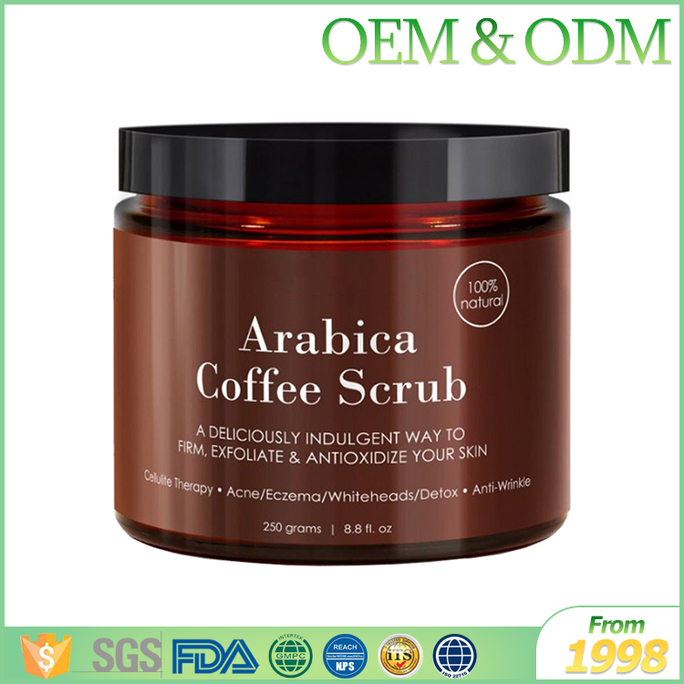 100% natural private label cosmetic arabica body care coffee scrub moisturizing coffee body scrub