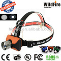 CREE Q5 high power head lamp 250Lm built-in battery zoom focus