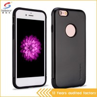 China manufacturer cellphone cover for iphone 6 case black