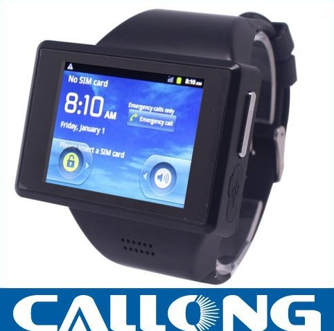 DHL Freeshipping 2014 New Products Wrist Watch Phone Andriod 4.0 Cortex A7 DualCore 1.0GHz MTK6515 Smart watch phone