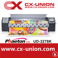 Phaeton digital fabric printing machine UD-3278K 2 spt510 printheads flatbed banner ink jet plotter
