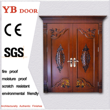 pastoral style office soundproof interior designs double door wooden single main designYBVD-6002