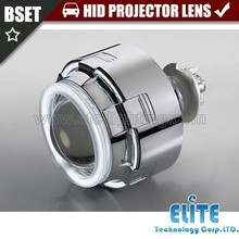 2015 new 3inch auto hid bi-xenon projector square lens with double angel eyes