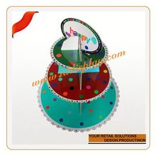 Customized clear glass cake cover acrylic cake display/stand/shelf/rack/showcase