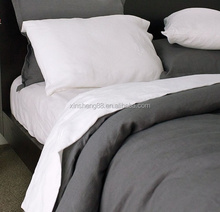 Newest cotton linen bed sheets with stone washed for home /hotel/wholesale