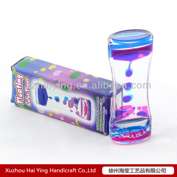 Acrylic floationg colorful liquid timer