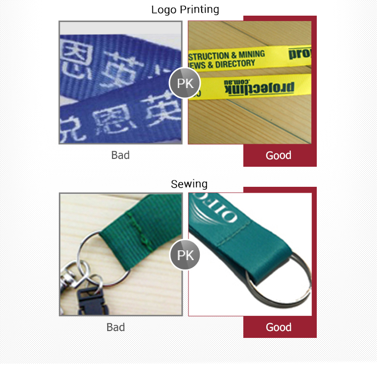 polyester lanyards with your own design and website printed on