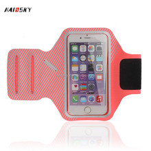HAISSKY 2016 jogging sport running armband 5.5 inch Lycra Armband case for iPhone 6/6 plus or for iphone 7/7 plus