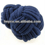 Heyco custom make coloful barrel silk knot cufflink