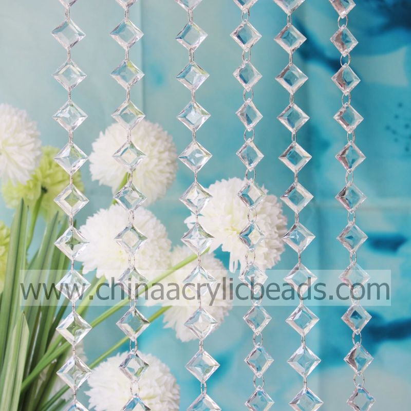 Easter Decoration 8.5*20*28mm Crystal Ring Bead Curtain Garland for Summer