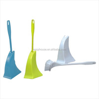 china factory produce plastic curved toilet cleaning brush