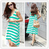 Hot Selling Wholesale Summer Green Latest Dress Designs For Ladies