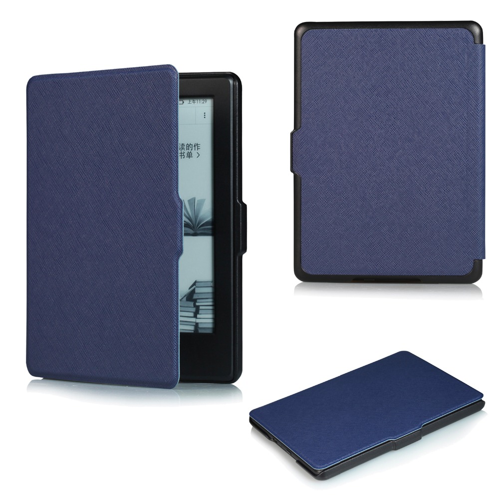 Auto sleep/wake function smart tablet Flip Book cover for Amazon New kindle 2016 leather case