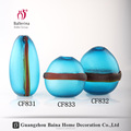 New Fashion pear shaped colored glass vase ,cheap blue decorative glass vase