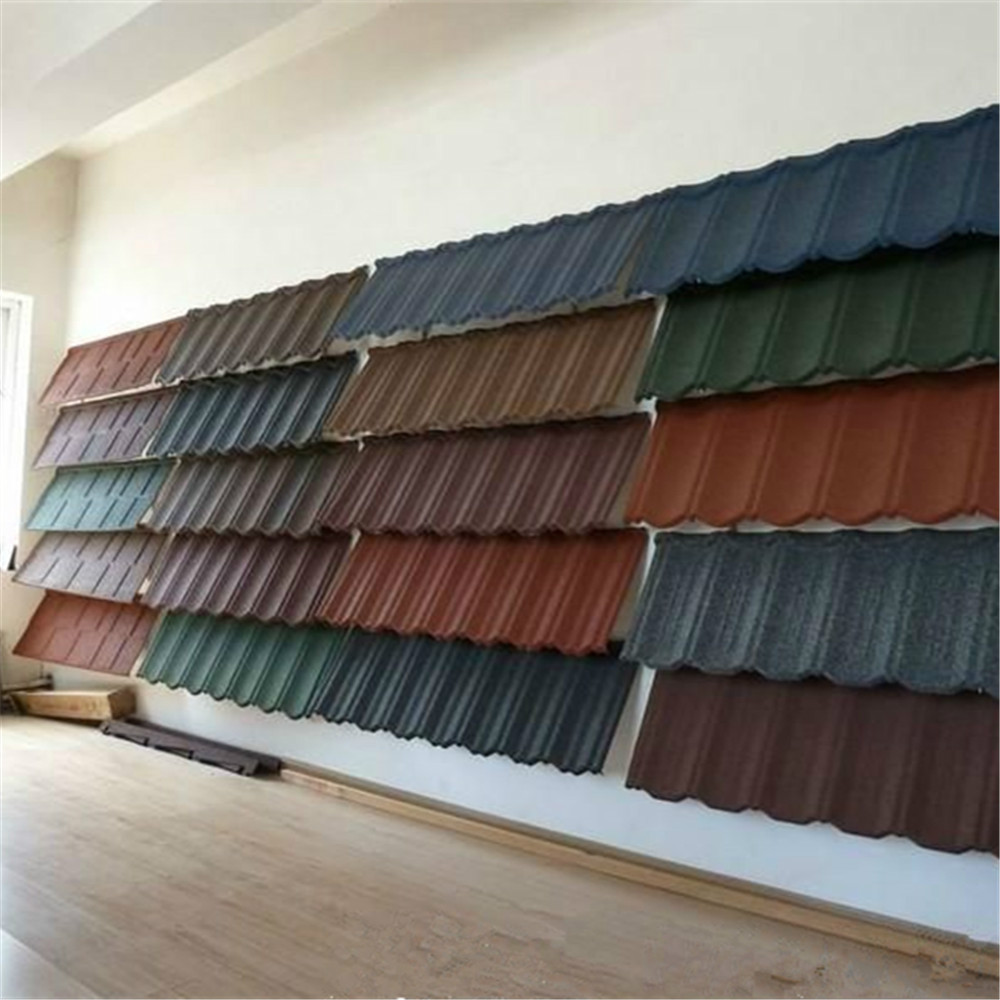 2015 Hot Roof Sheets Price Per Sheet Corrugated Magnesium Oxide Roof Tile Colorful Stone Coated ...