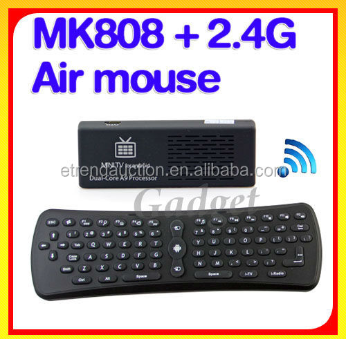 2.4G Wireless Air Mouse+Android 4.1 Mini PC MK808
