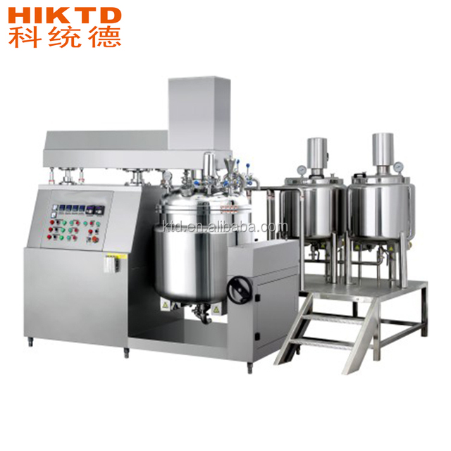 50-5000L liquid cream vacuum emulsifying mixer machine for cosmetic food chemical