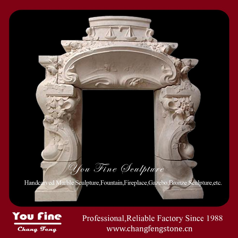 Indoor Used Freestanding Decorative Fireplace Mantles