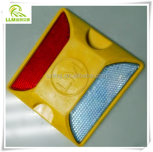 Factory outlet enhanced ABS road reflectors reflective plastic road stud
