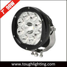 7 inch 90w round led work lights, auto driving light